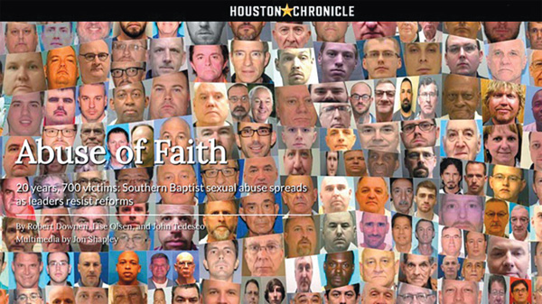 Houston Chronicle and San Antonio Express News expose abuses in the Southern Baptist Convention