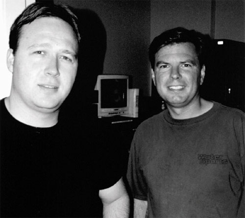 Mike Hanson with Alex Jones