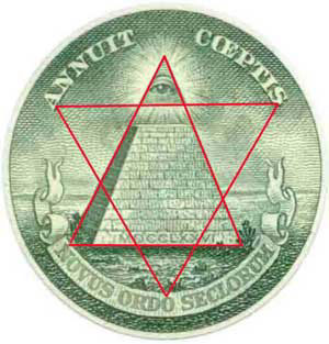 The all-seeing eye of the Synagogue of Satan