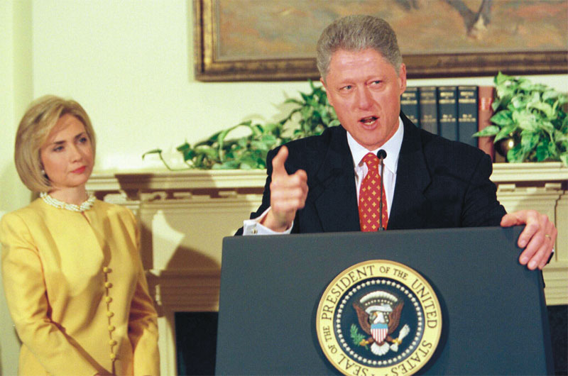 Bill Clinton lied about having sex with Monica Lewinsky