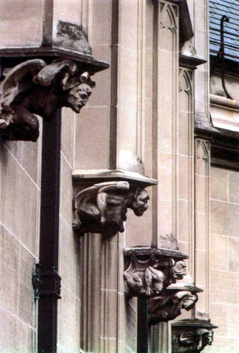 Gargoyles decorate the Biltmore Estate
