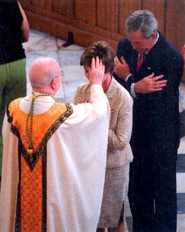 George & Laura at Mass