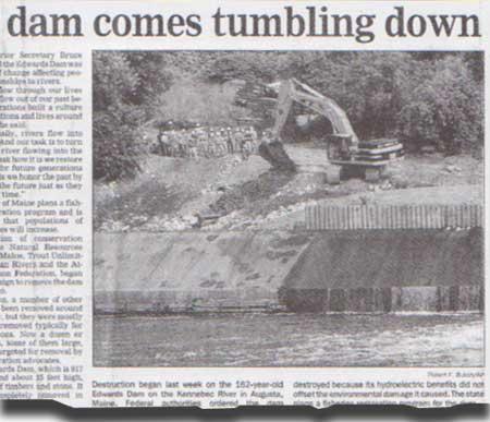 dam comes tumbling down