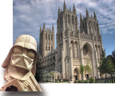 Darth Vader at the National Cathedral