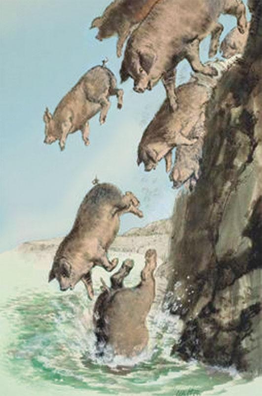 Image result for demon possessed swine