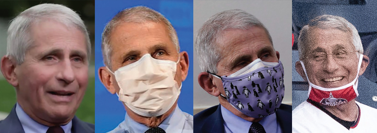The many faces of Fauci the Flip-Flopper