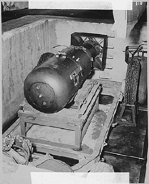 """Lttle Boy"" - The first atomic bomb to explode over Hiroshima"
