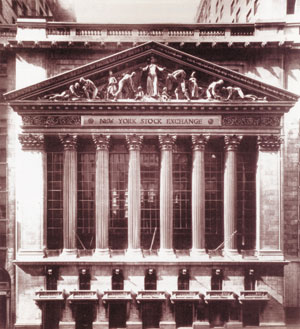 Wall Street's New York Stock Exchange building