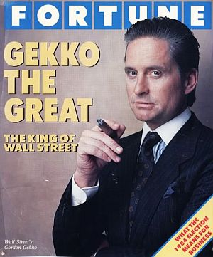 Gordon Gekko Wall Street King