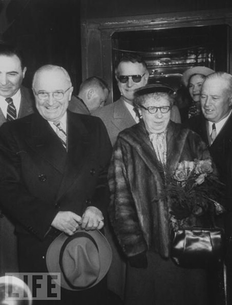 Harry and Bess Truman with Abe Feinberg