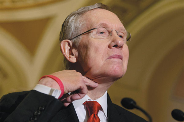 Harry Reid's Evil Hand Sign