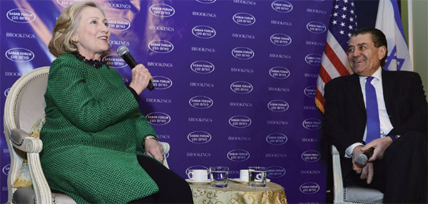 Hillary Clinton with Haim Saban