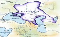 Map of Khazaria