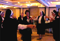 Nuns dance the Jewish Hora