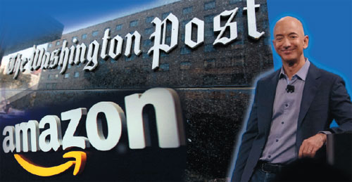 Jeff Bezos owns Amazon and Washington Post