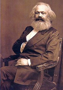 Karl Marx gives Masonic handsign