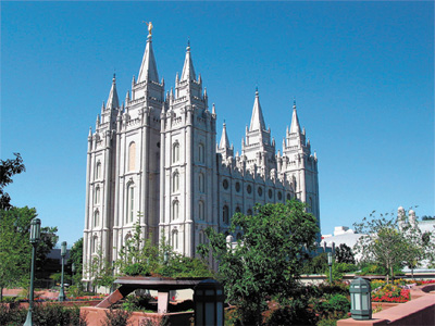 LDS Temple in Salt Lake City, Utah