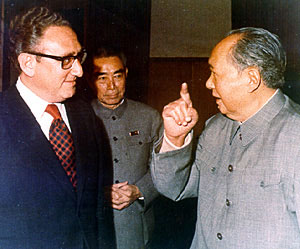 Mao Tse-Tung and Henry Kissinger