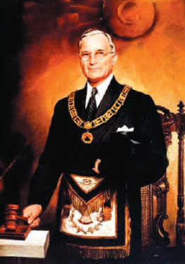 President Harry Truman in Masonic Regalia