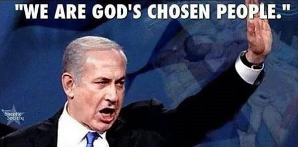 Netanyahu handsign