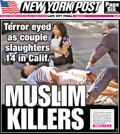New York Post Front Page Headline