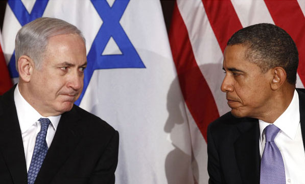 Bibi Netanyahu with Barack Obama