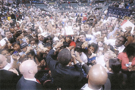 Obama draws a crowd
