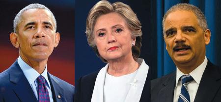 Barack Obama, Hillary Clinton, Eric Holder