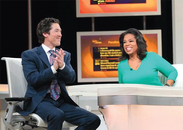 Joel Osteen and Oprah Winfrey