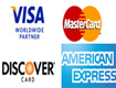 We accept Visa, MasterCard, Discover, American Express, and PayPal