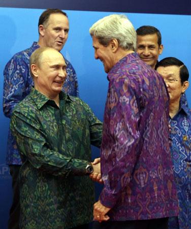 Putin meets Sec. State Kerry