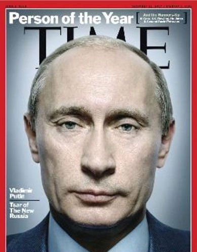 Time magazine named Putin as its Person of the Year