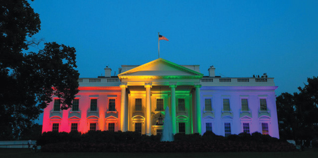 Barack Obama highlighted the White House with the symbolic colors for homosexuals