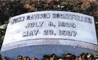 John D Rockefeller Gravestone