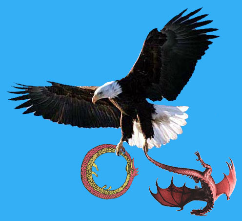 The Great Serpent, the Red Dragon, and the Soaring War Eagle
