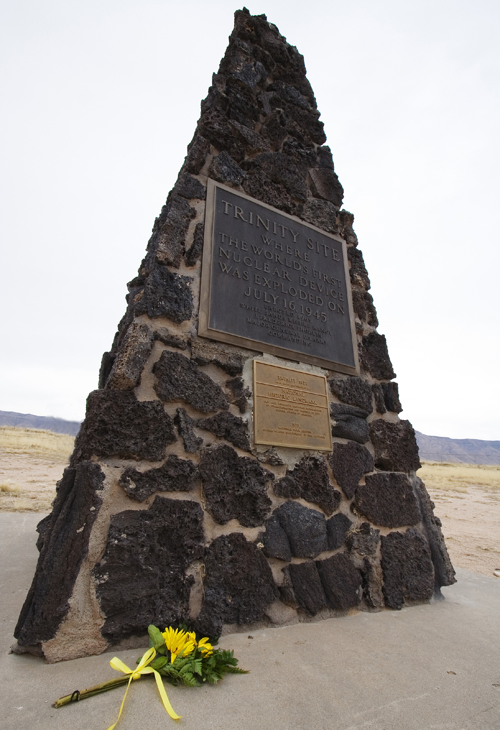 The Trinity Site Pyramid Monument