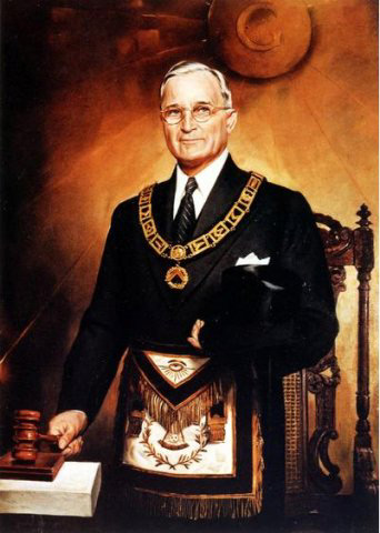 Harry Truman in his Masonic regalia