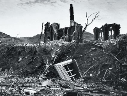 Urakami Cathedral after the bomb