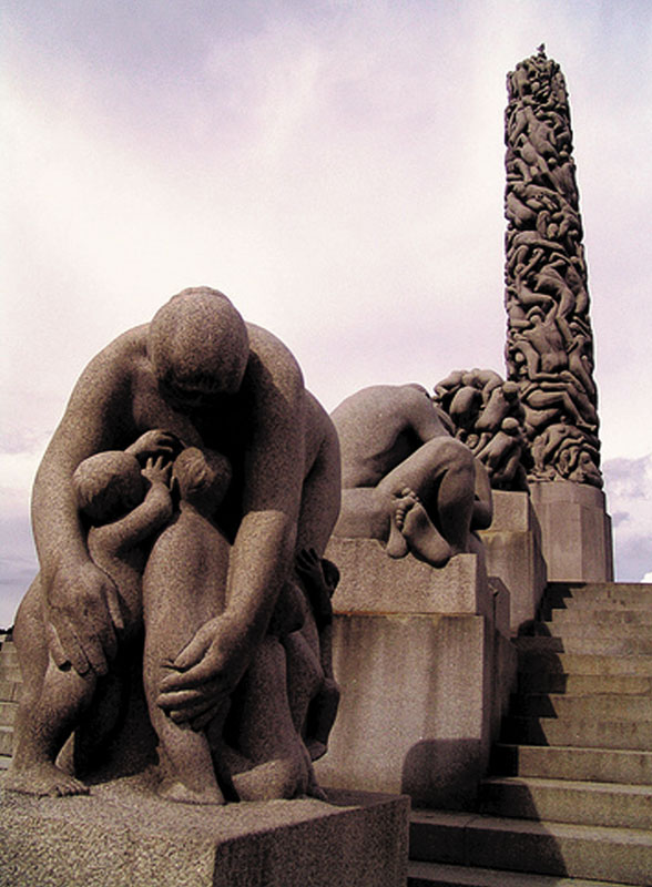 Vigeland Monolith in Oslo, Norway